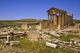 Tunisia, Dougga. Roman Ruins. the Capitol. 166 Ad Photographic Print by Charles Cecil