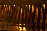 USA, Tybee Island, Tybee Pier in Morning Light Photographic Print by Joanne Wells