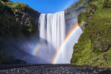 Iceland, Skogafoss. Waterfall and Rainbow Photographic Print by  Jaynes Gallery