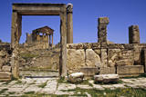Tunisia, Dougga. the Capitol, Seen Through the 'Unnamed Temple' Photographic Print by Charles Cecil