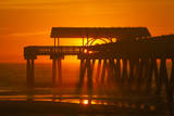USA, Tybee Island, Tybee Pier in the Morning Light Photographic Print by Joanne Wells