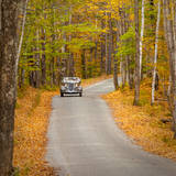 Touring the Back Woods in Autumn Near Woodstock, Vermont, USA Photographic Print by Brian Jannsen
