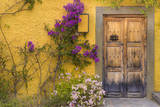Mexico, San Miguel De Allende. Wooden Doorway Photographic Print by  Jaynes Gallery