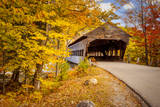 Autumn at the Albany Covered Bridge, Albany, New Hampshire, USA Photographic Print by Brian Jannsen