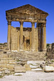 Tunisia, Dougga. the Capitol. Roman Temple Ruins Photographic Print by Charles Cecil