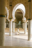 Senegal, Touba. Worshipper Walking Through the Grand Mosque Photographic Print by Charles Cecil