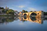 Sunrise over Pont Saint Benezet, Palais Des Papes, Avignon, France Photographic Print by Brian Jannsen