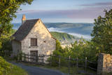 Cottage Above the Lot Valley, Midi-Pyrenees, France Photographic Print by Brian Jannsen