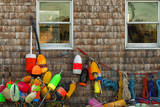 USA, Maine, Lobster Buoys at Bass Harbor Photographic Print by Joanne Wells