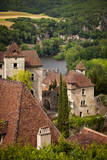 View over Saint-Cirq-Lapopie, Midi-Pyrenees, France Photographic Print by Brian Jannsen