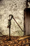 New Jersey, Hunterdon County, Cokesbury, Old Hand Pump Photographic Print by Alison Jones