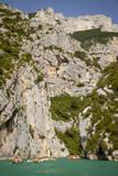 Boating in Gorges Du Verdon, Alpes De Haute, Provence, France Photographic Print by Brian Jannsen