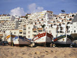 Portugal, Algarve, Albufeira, Fishing Boat on Beach Photographic Print by David Barnes