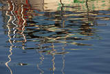 USA, Maine, Reflections of a Lobster Boat at Bass Harbor Photographic Print by Joanne Wells