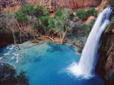 USA, Arizona, Havasupai Reservation. Havasu Falls in the Grand Canyon Photographic Print by  Jaynes Gallery