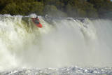 Kayaker Going over Maruia Falls, Tasman, South Island, New Zealand Photographic Print by David Wall