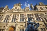 Allegorical Statue by Jules Blanchard, Hotel De Ville, Paris, France Photographic Print by Brian Jannsen