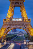 Eiffel Tower with Ecole Militaire Beyond, Paris, France Photographic Print by Brian Jannsen
