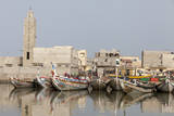 Senegal, Saint-Louis or Ndar. Fishing Boats Along the Senegal River Photographic Print by Charles Cecil