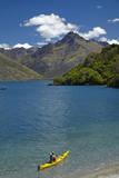 Kayak, Sunshine Bay, Lake Wakatipu, Queenstown, New Zealand Photographic Print by David Wall
