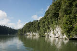 Guatemala, Izabal, Rio Dulce River. Gorge View of the Rio Dulce Fotografisk tryk af Cindy Miller Hopkins