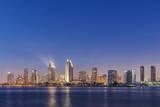 USA, California, Coronado Island, San Diego Skyline at Twilight Photographic Print by Rob Tilley