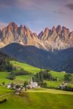 Santa Maddelena and the Dolomites, Trentino-Alto Adige, Italy Photographic Print by Brian Jannsen