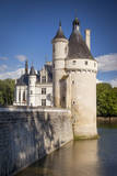 Guard Tower and Chateau Chenonceau, River Cher, Indre-Et-Loire, France Photographic Print by Brian Jannsen
