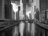 USA, ILlinois, Chicago. Bridge with Trump Tower and Chicago Tribune Photographic Print by Petr Bednarik