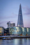 The Shard, City Hall and Downtown Buildings, London, England, Uk Photographic Print by Brian Jannsen