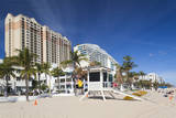 USA, Florida, Fort Lauderdale Beach, High Rise Buildings Photographic Print by Walter Bibikow