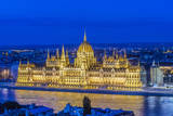 Hungary, Budapest, Hungarian Parliament at Twilight Photographic Print by Rob Tilley