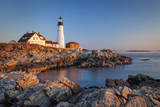 Winters Dawn at Portland Head Lighthouse Near Portland, Maine, USA Photographic Print by Brian Jannsen
