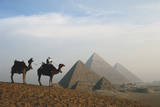 Egypt, Giza, Camel Ride and Giza Pyramid Photographic Print by Claudia Adams