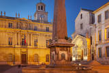 Memorial Obelisk, Saint Trophime, and Hotel De Ville, Provence, France Photographic Print by Brian Jannsen
