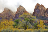 USA, Utah, Zion National Park, Court of the Patriarchs Photographic Print by Jamie & Judy Wild