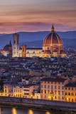 Twilight over the Duomo, Florence, Tuscany, Italy Photographic Print by Brian Jannsen
