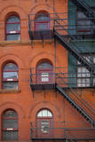 Brick Building with Fire Escapes, Soho, Manhattan, New York City, USA Photographic Print by Brian Jannsen