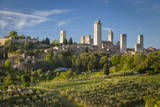 Evening View over Medieval Town of San Gimignagno, Tuscany, Italy Photographic Print by Brian Jannsen
