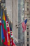Flags on Display at Rockefeller Center, Manhattan, New York City, USA Photographic Print by Brian Jannsen