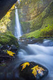 Usa. Oregon. Tunnel Falls in the Columbia Gorge Photographic Print by Gary Luhm