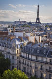 Sunset over Paris, Eiffel Tower Beyond, ILe-De-France, France Photographic Print by Brian Jannsen