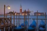 Gondolas with San Giorgio Maggiore in the Background, Venice, Italy Photographic Print by Brian Jannsen