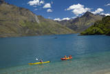 Kayaks, Sunshine Bay, Lake Wakatipu, Otago, New Zealand Photographic Print by David Wall