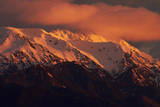 Sunrise and Alpenglow, Seaward Kaikoura Ranges, Kaikoura, New Zealand Photographic Print by David Wall