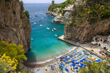 Beach in the Rocky Coastline of Amalfi Near Praiano, Campania, Italy Photographic Print by Brian Jannsen
