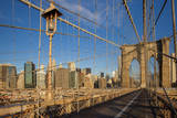 Financial District from the Brooklyn Bridge, New York City, USA Photographic Print by Brian Jannsen