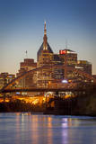 Twilight over Nashville and the Cumberland River, Tennessee, USA Photographic Print by Brian Jannsen