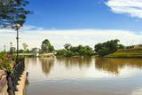 Sarawak River (Sungai Sarawak), Kuching, Malaysian Borneo, Malaysia Photographic Print by Nico Tondini