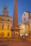 Memorial Obelisk, Saint Trophime, and Hotel De Ville, Provence, France Photographic Print by Brian Jannsen